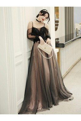 Pretty Long Black Tulle...