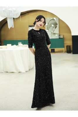 Modest Long Black Sparkly...