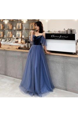 Simple Blue Velvet With...
