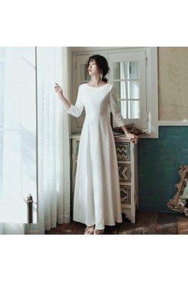 Elegant Simple Long White...