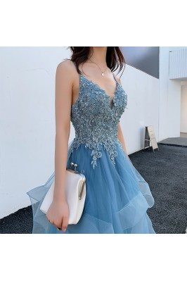 Blue Beaded Lace Beautiful...