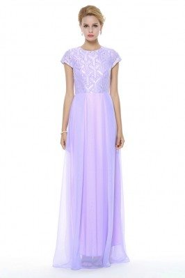 Empire Waist Long Chiffon Prom Dress