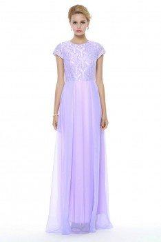 Empire Waist Long Chiffon Prom Dress