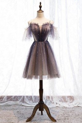 Cute Short Tulle Bling...