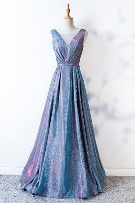 Sparkly Blue Long Aline...