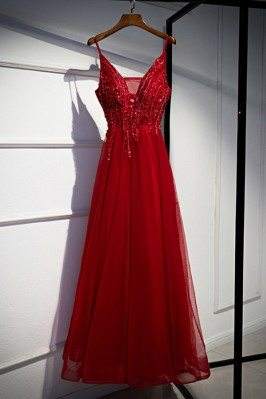 Beaded Slim Long Prom Dress...