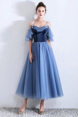 Elegant Blue Tulle Tea...