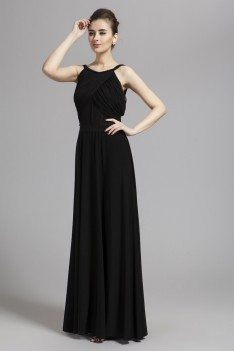 Simple Backless Long Formal Dress