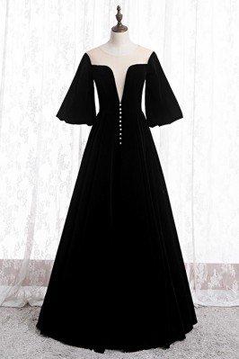 Black Velvet Formal Long...