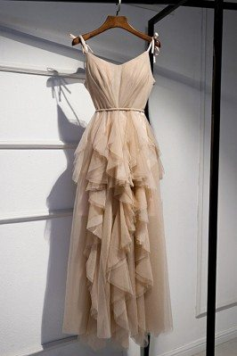 Champagne Long Tulle...