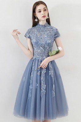 Unique Embroidered Blue...