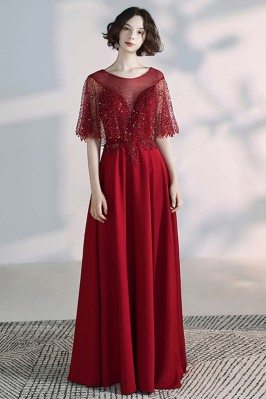 Elegant Long Red Formal...