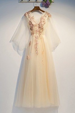 Luxe Embroidery Champagne...