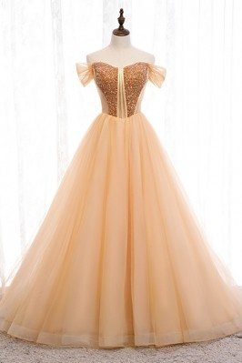 Gorgeous Off Shoulder Long...