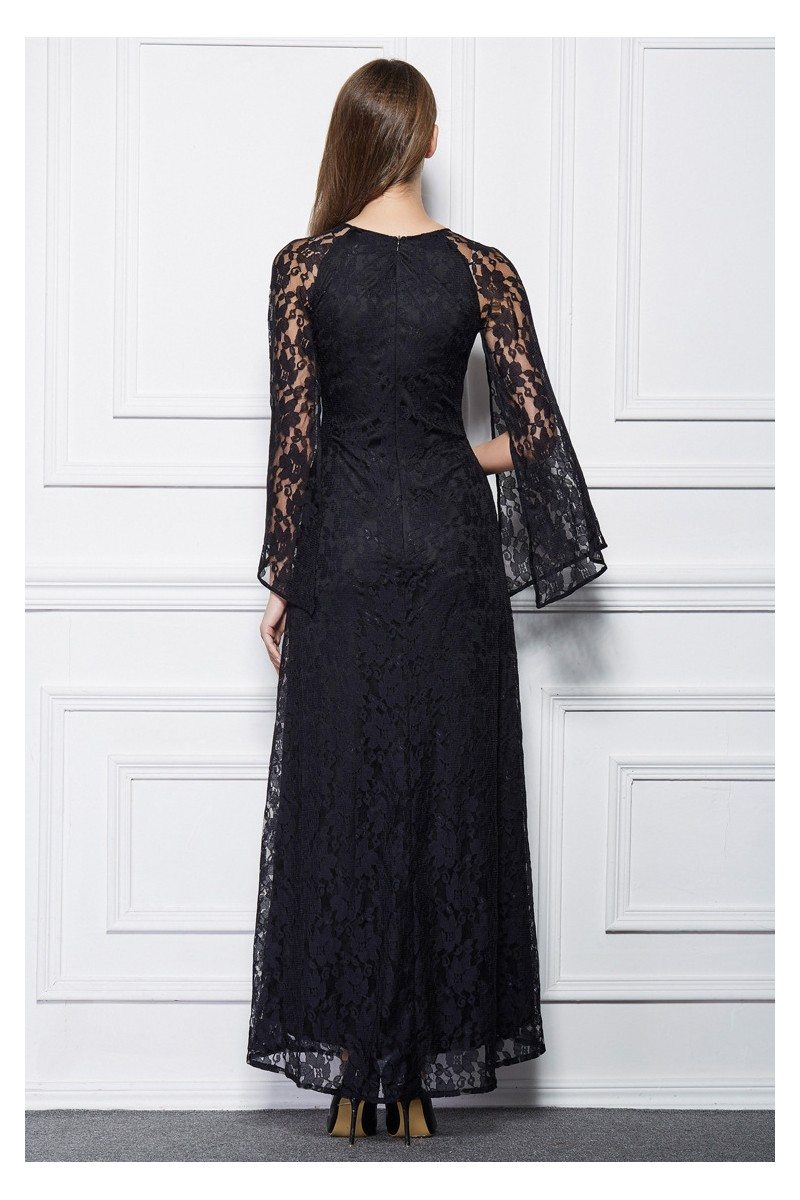 Long Lace Cape Style Party Dress 79 Ck494 Sheprom Com