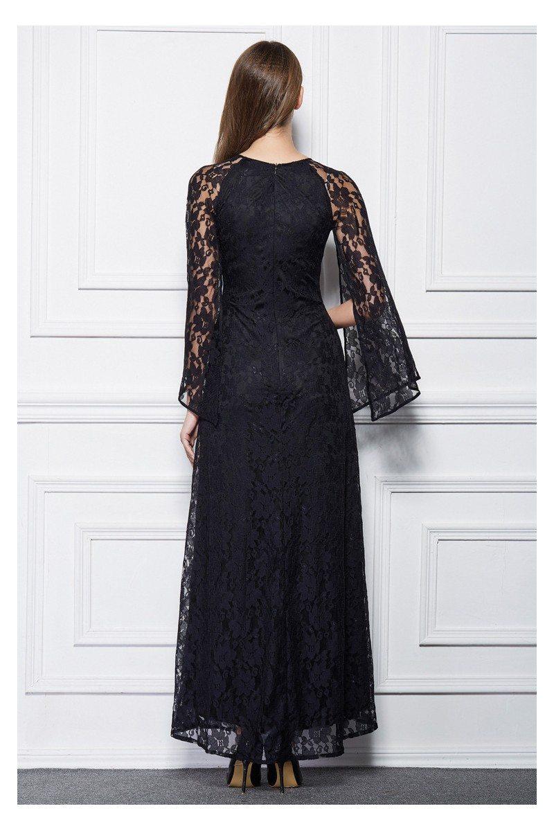 Long Lace Cape Style Party Dress 79 Ck494 Sheprom Com
