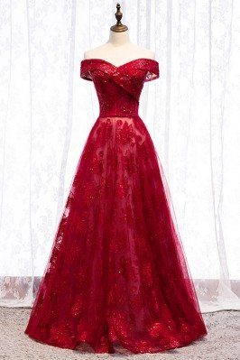 Long Formal Burgundy...