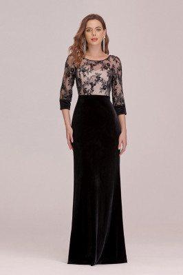 Modest Velvet Black Evening...