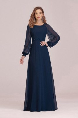 Navy Blue Aline Long...