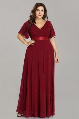 Plus Size Vneck Burgundy...