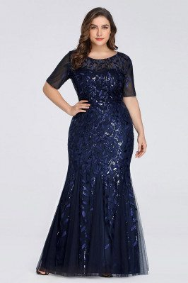 Navy Blue Plus Size Mermaid...