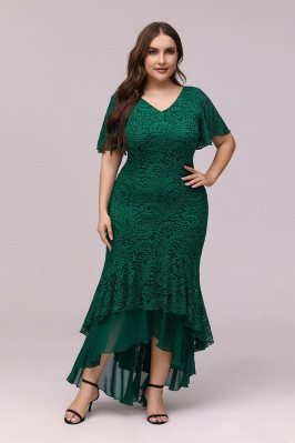 Plus Size Green Lace...