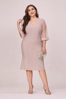 Plus Size Elegant Pink...