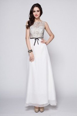 Chiffon Empire Waist Long Party Dress