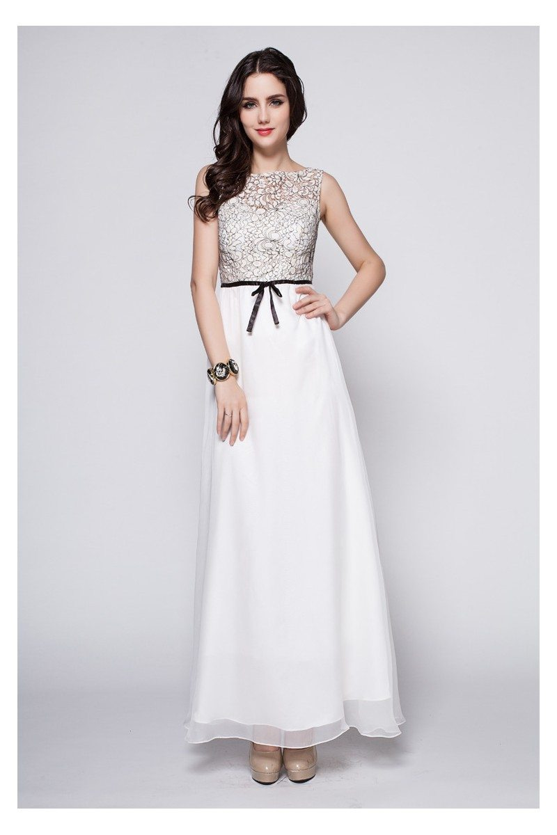Chiffon Empire Waist Long Party Dress - $87 #CK386 - SheProm.com