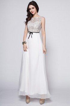 Chiffon Empire Waist Long Party Dress