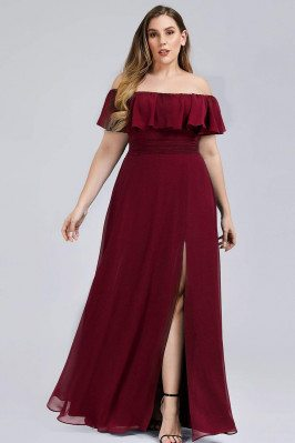 Burgundy Plus Size Off...