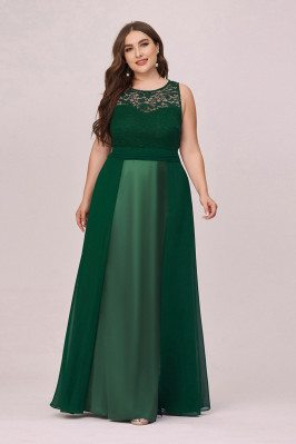 Plus Size Dark Green...