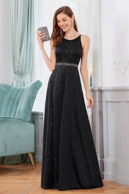 Bling Black Long Prom Dress...