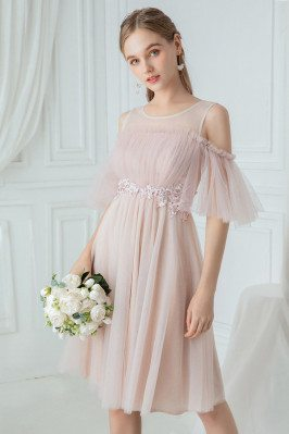 Pink Tulle Pretty Knee...