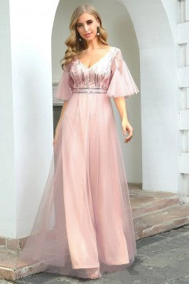 Cute Pink Tulle Sleeves...