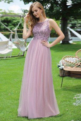 Mauve Aline Tulle Prom...