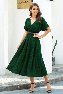 Green Vneck Elegant Tea...
