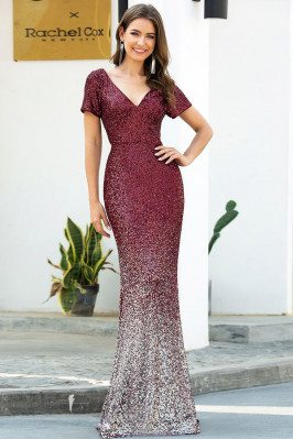 Burgundy Sequins Mermaid...
