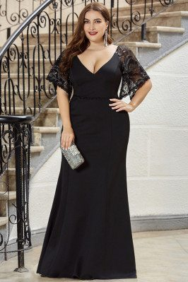 Formal Long Black Plus Size...