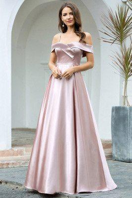 Elegant Aline Mauve Long...
