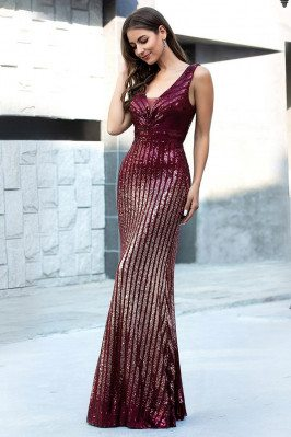 Burgundy Mermaid Sequins...