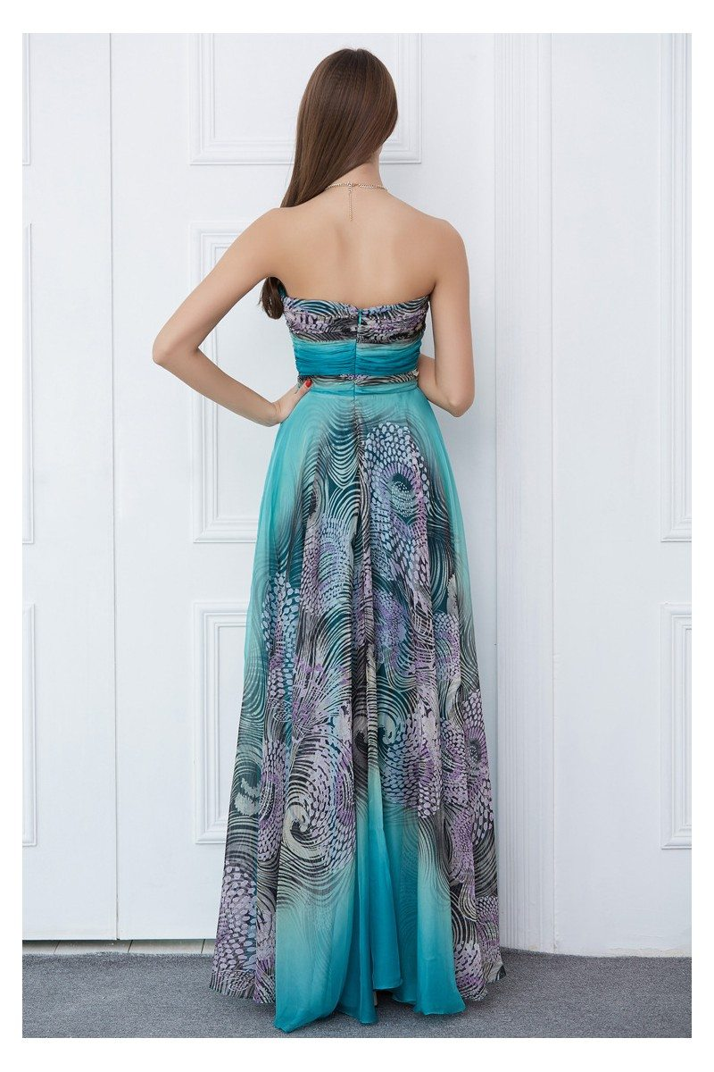 Animal Print Sweetheart Long Prom Dress - $99 #CK385 - SheProm.com
