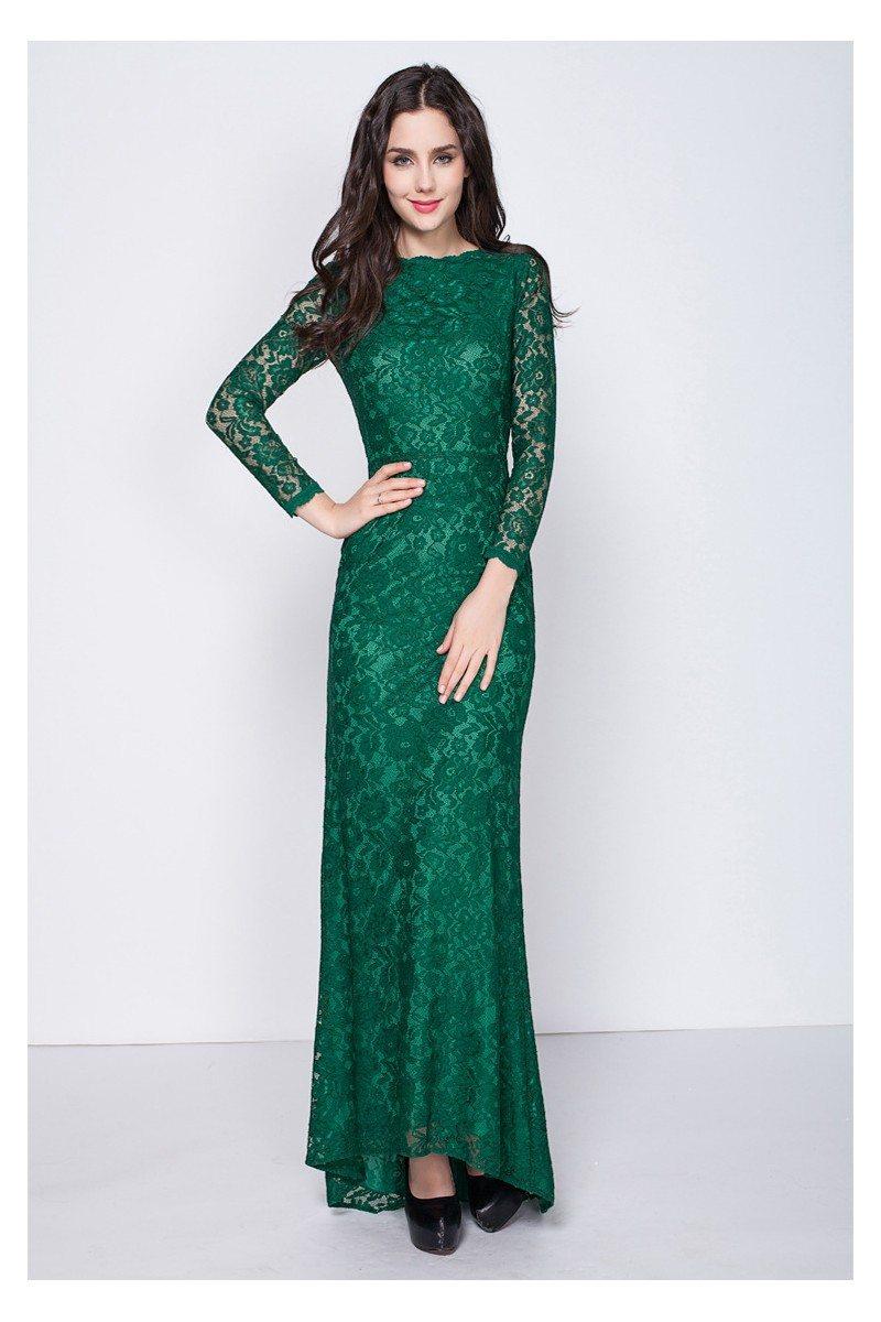 Full Lace Long Sleeve Evening Dress 87 Ck350 Sheprom Com