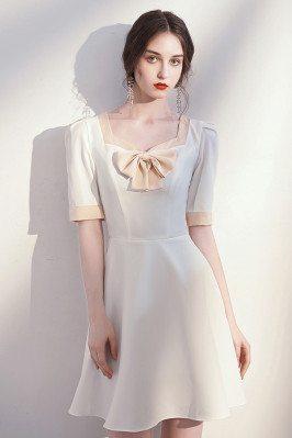 French Elegant White Aline...