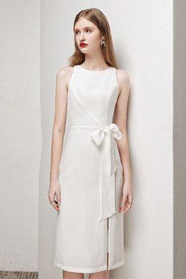 Elegant White Party Dress...