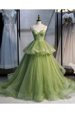 Stunning Green Corset Prom...
