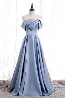 Elegant Blue Satin Formal...