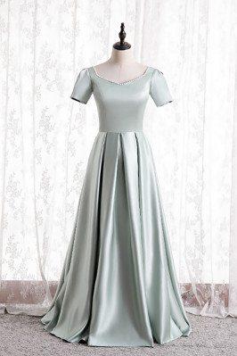 Elegant Beaded Satin Formal...