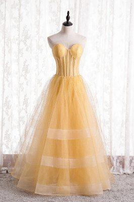 Yellow Mesh Tulle Corset...