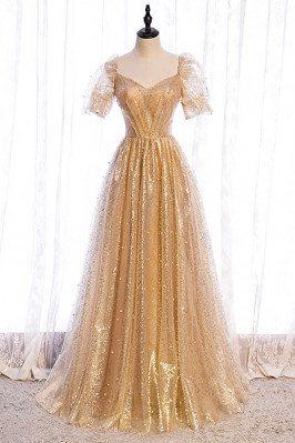 Formal Bling Gold Sequins...